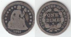 SCARCE DATE 1842O SEATED DIME