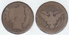 1893O BARBER QUARTER
