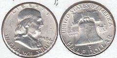 NICE BU 1958 FRANKLIN HALF DOLLAR