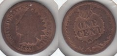 1871 KEY DATE INDIAN CENT