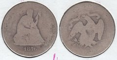 1876S SEATED QUARTER