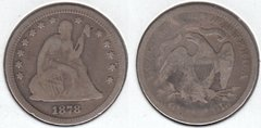 1878 SEATED QUARTER