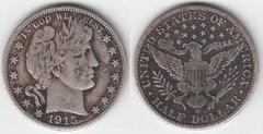 1915D BARBER HALF DOLLAR