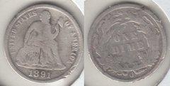 1891O  SEATED DIME