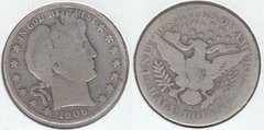 1906S BARBER HALF DOLLAR