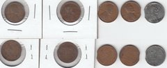 5 LINCOLN CENT CLIPS