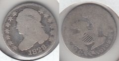 1828 LARGE DATE BUST DIME
