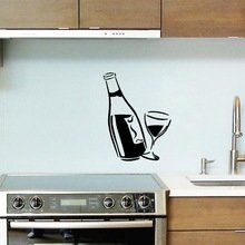 Wine Bottle Glass Kitchen Wall Decal