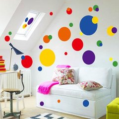 COLOR DOT VINYL WALL DECAL