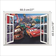 3D CARS WINDOW WALL DECAL