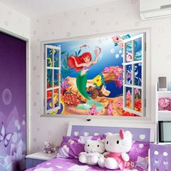 3D Little Mermade window wall decal