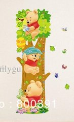 3D WINNIE THE POOH GROWTH CHART WALL DECAL 1/2 PRICED