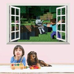 3D MINECRAFT WINDOW WALL