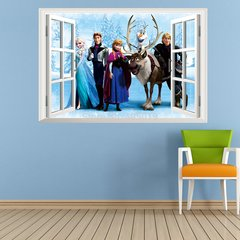 3D Frozen Window wall Decal
