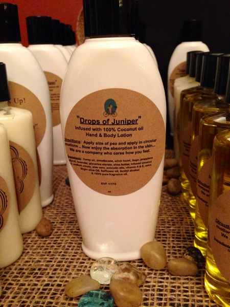 """Drops of Juniper"" Coconut Oil Infused Hand and Body Lotion 6oz"