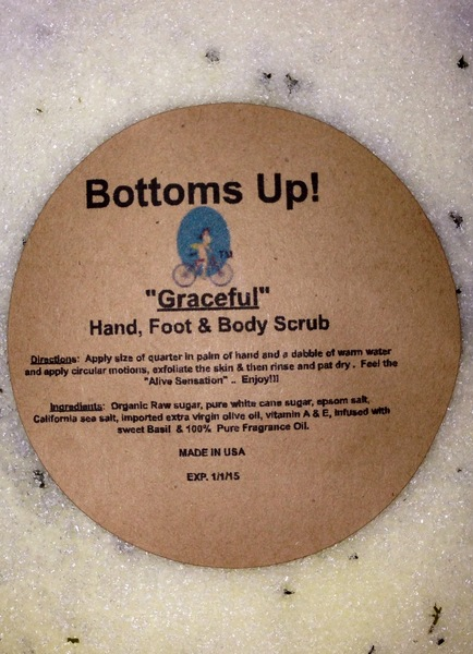 """Graceful"" All Natural Oil Infused Hand Foot & Body Scrub 8 oz"