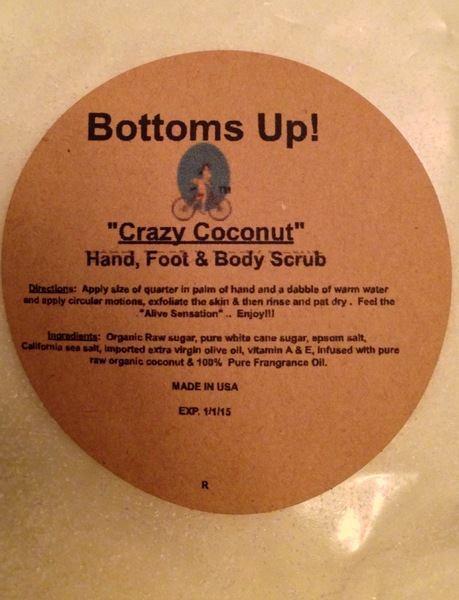 """Crazy Coconut"" All Natural Hand Foot & Body Scrub 8oz"