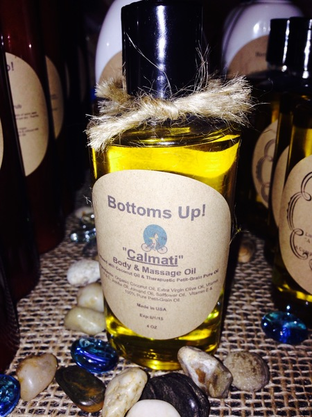"""Calmati"" Petit-Grain & Coconut Oil Infused Body & Massage Oil 4 0z"