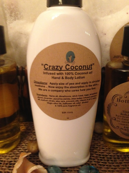 """Crazy Coconut"" Coconut Oil infused Hand and Body Lotion 6oz"