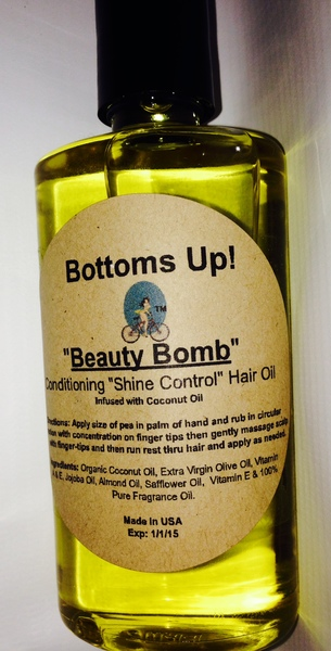 """""""Beauty Bomb"""" Conditioning """"Shine Control"""" Hair Oil 4oz"""