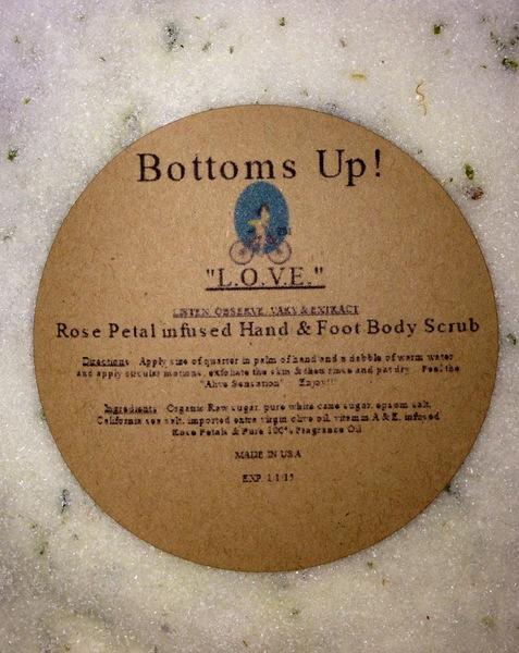 """""""L.O.V.E. All Natural Pure Oil Infused Hand Foot & Body Scrub 8 oz"""