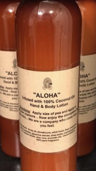 """ALOHA"" Coconut oil Infused Hand & Body Lotion 4 OZ"