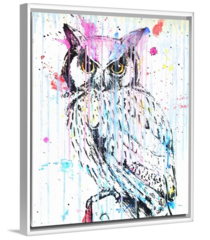 """OWL in POP"" Original or Framed Canvas Print"