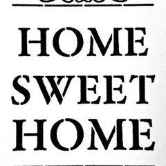 Home Sweet Home Stencil - A4