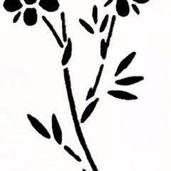 Flower Stencil - A5