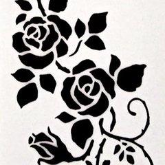 Climbing Rose Stencil - A4