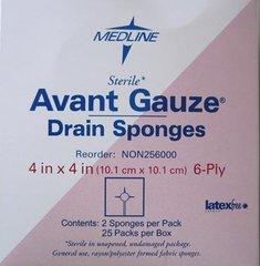 "Avant Gauze Drain Sponges - 4"" x 4"""