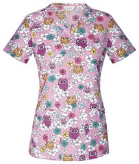 Code Happy ( V-Neck Top) Owl Naturale
