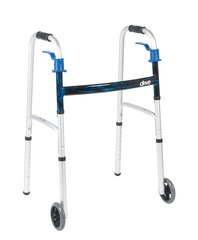 "Deluxe, Trigger Release Folding Walker with 5"" Wheels (Junior )"
