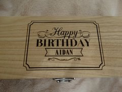 Personalised Birthday wine box (single)