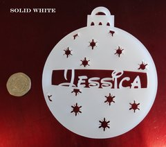 Personalized 10cm bauble (Star Design)