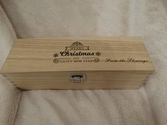 Personalised Christmas wine box (single)