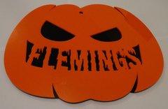 Personalised Pumpkin Halloween Name Door Plate
