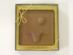 Sports Basketball Square - Milk Chocolate