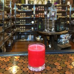 Red Hot Cinnamon 2.5oz Soy Candle in Glass