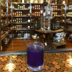 Violet Lime 2.5oz Soy Candle in Glass