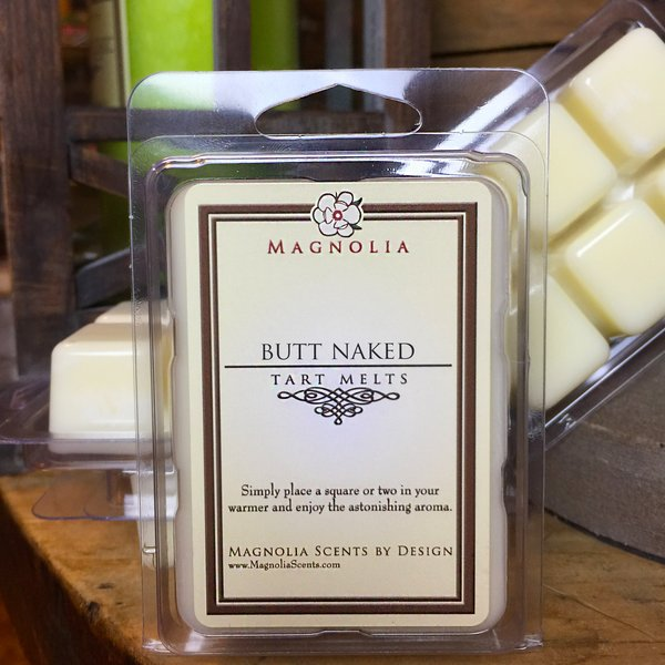 butt naked candle wax