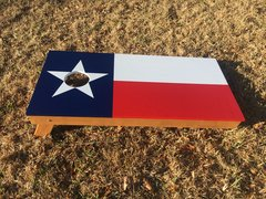Texas flag cornhole board set