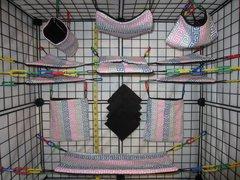 15 pc Bedding - Sugar Glider Cage Set - Rat - Pink Greek Print