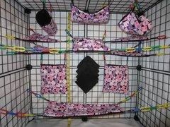 15 pc Bedding - Sugar Glider Cage Set - Rat - Love Stamps