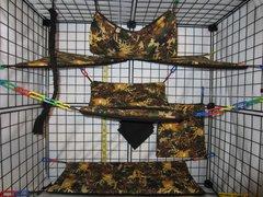 12 Pc - Woodsy Camo - Sugar Glider Oversized Cage Set