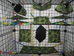 15 pc Bedding - Sugar Glider Cage Set - Rat - Dark Green Camo