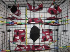 15 pc Bedding - Sugar Glider Cage Set - Rat - Auburn Woodsman