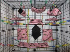 15 pc Bedding - Sugar Glider Cage Set - Rat - Pink Reality Tree Camo