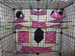 15 pc Bedding - Sugar Glider Cage Set - Rat - Freezing Sisters