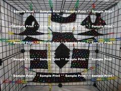 17 pc Bedding - Sugar Glider Cage Set - Rat - Puzzle
